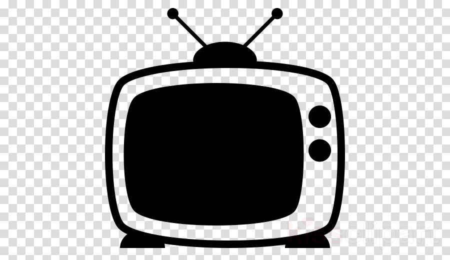 clip art font black-and-white television