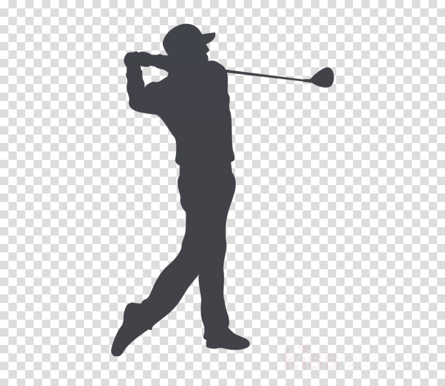 golfer standing silhouette solid swing+hit golf