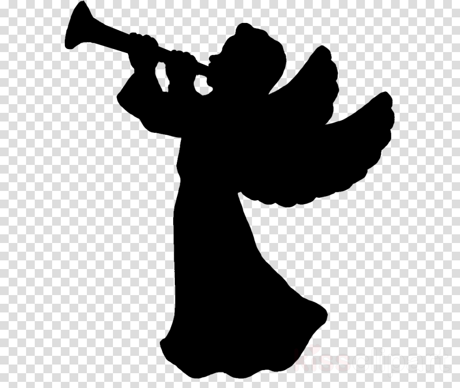 clip art silhouette fictional character black-and-white trumpet