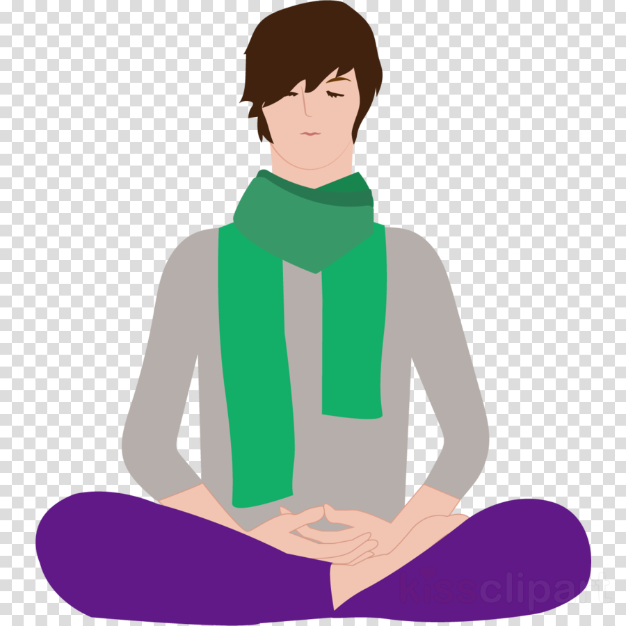 green neck sitting scarf clip art