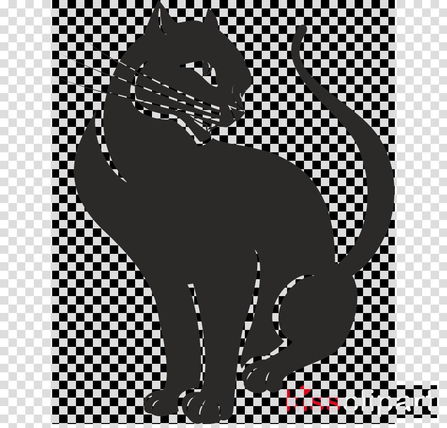 Черная кошка векторные картинки