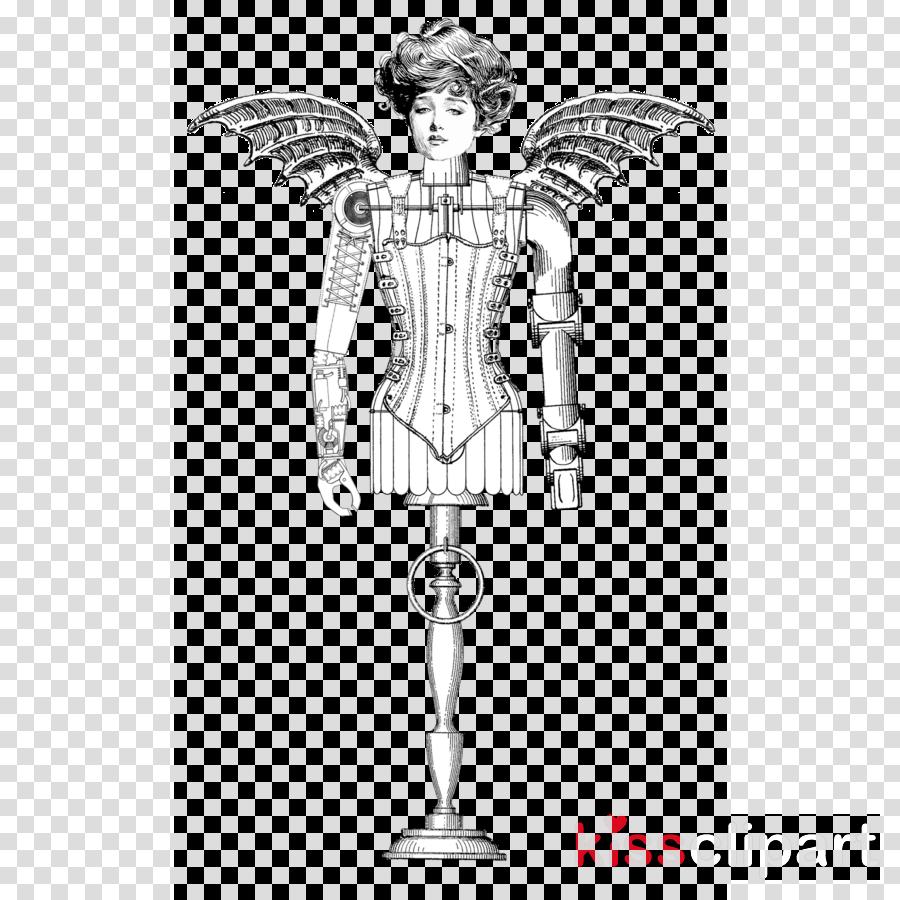Angel Standing Costume Design Fictional Character Sketch Clipart Angel Standing Costume Design Transparent Clip Art
