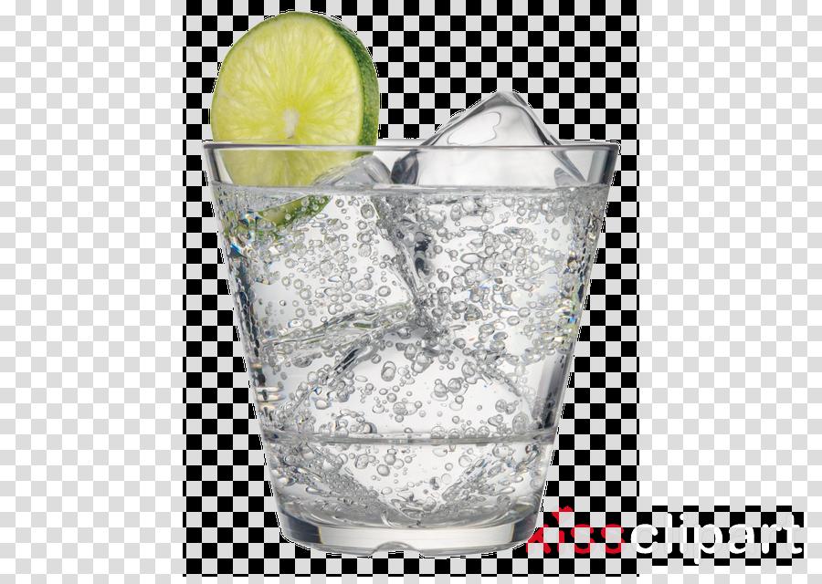 highball glass drink tumbler lemon-lime vodka and tonic