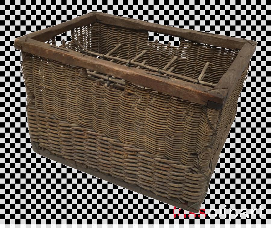 storage basket basket wicker brown hamper