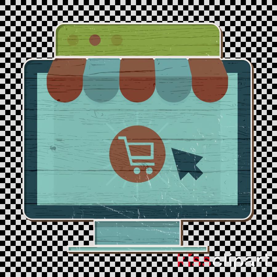 Monitor icon Digital Marketing icon Online shop icon