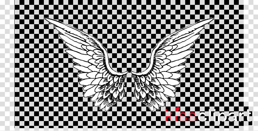 wing head angel line art fictional character