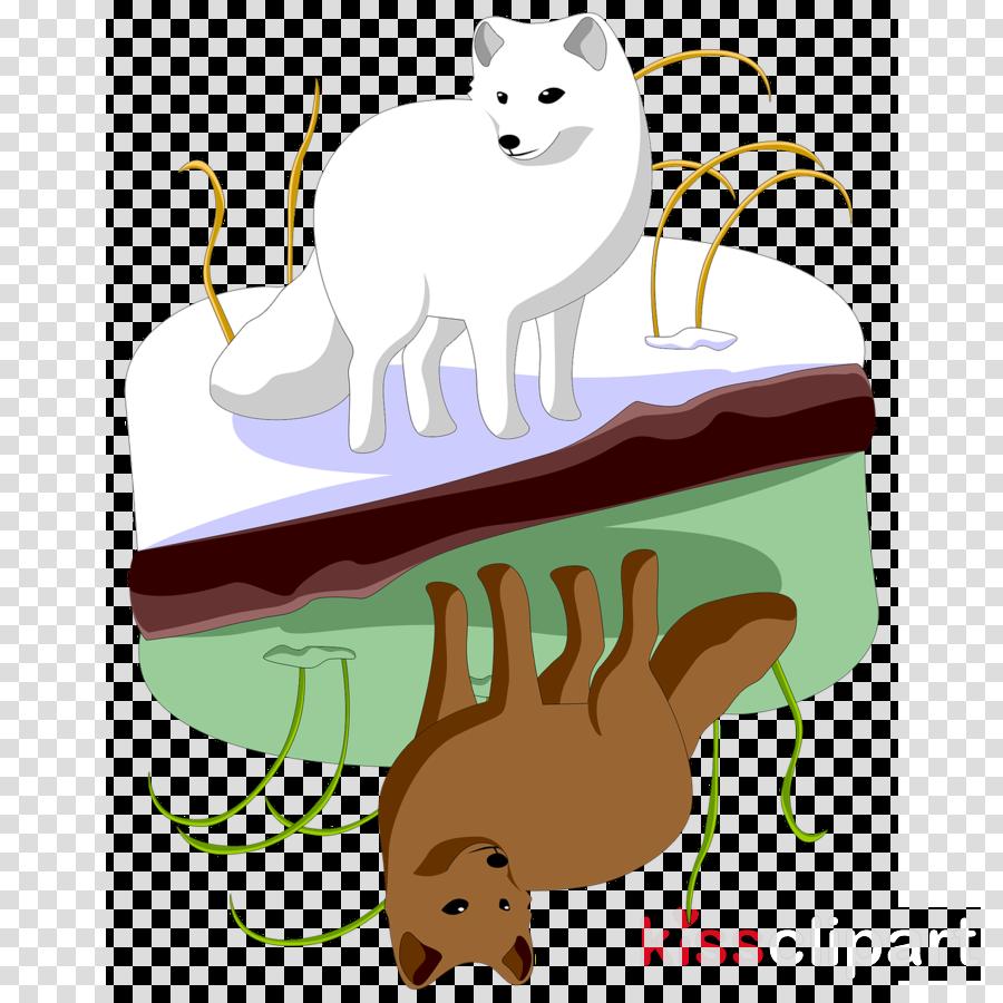 cartoon clip art dog tail arctic fox