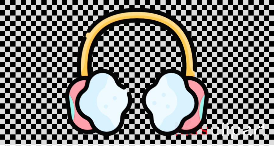 audio equipment pink headphones technology clip art