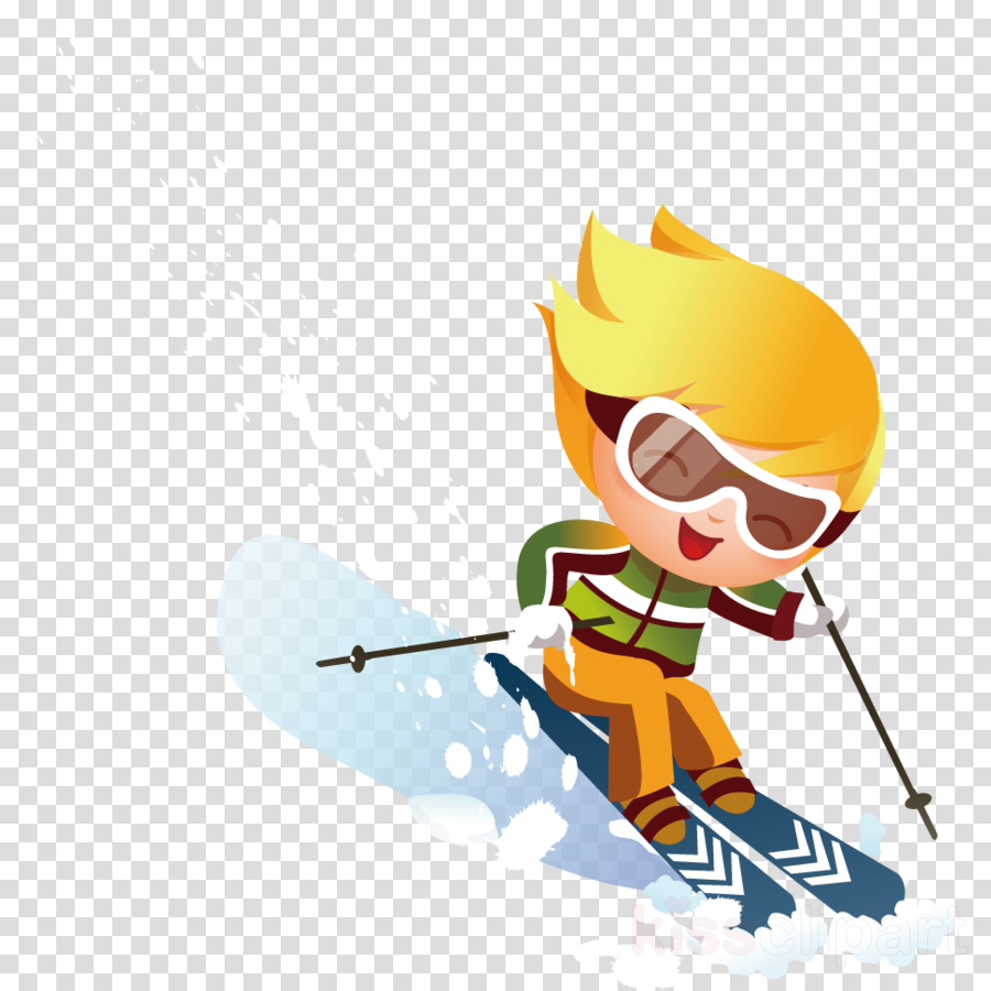 skier cartoon ski alpine skiing skiing