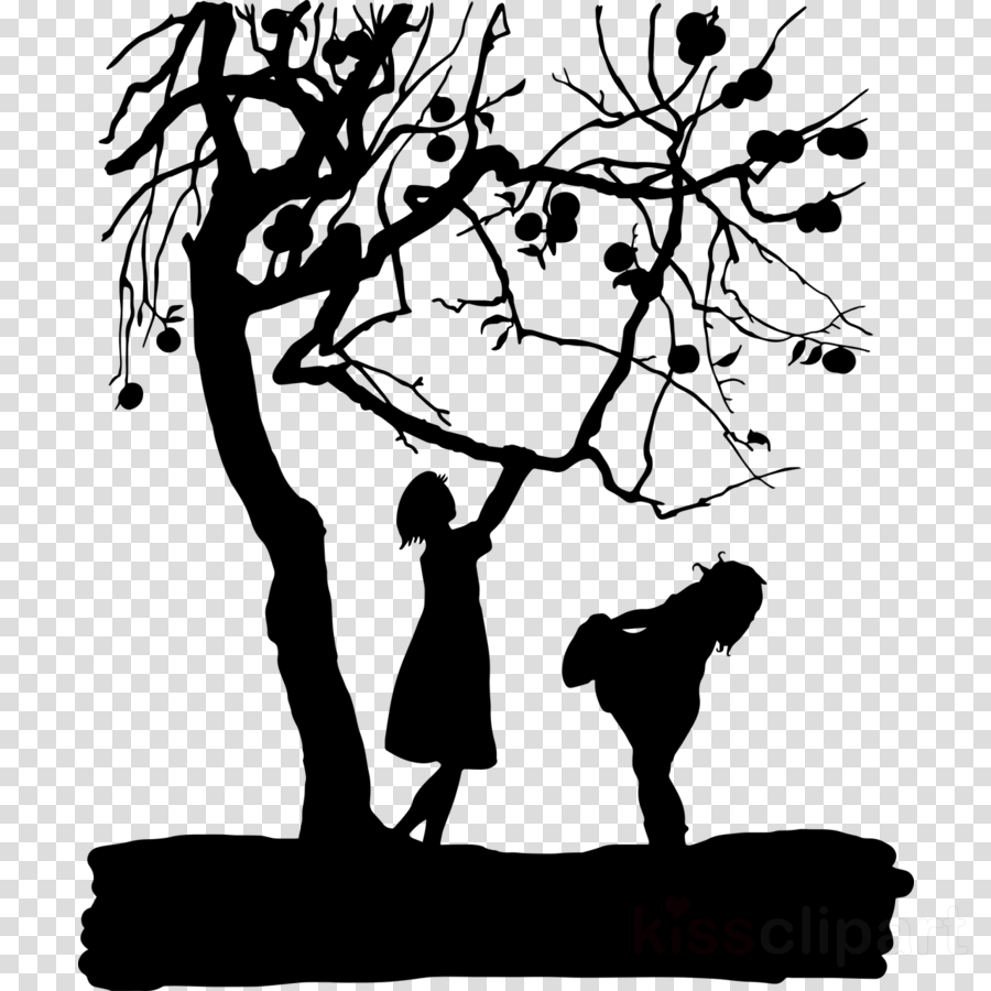 people in nature branch black-and-white silhouette tree