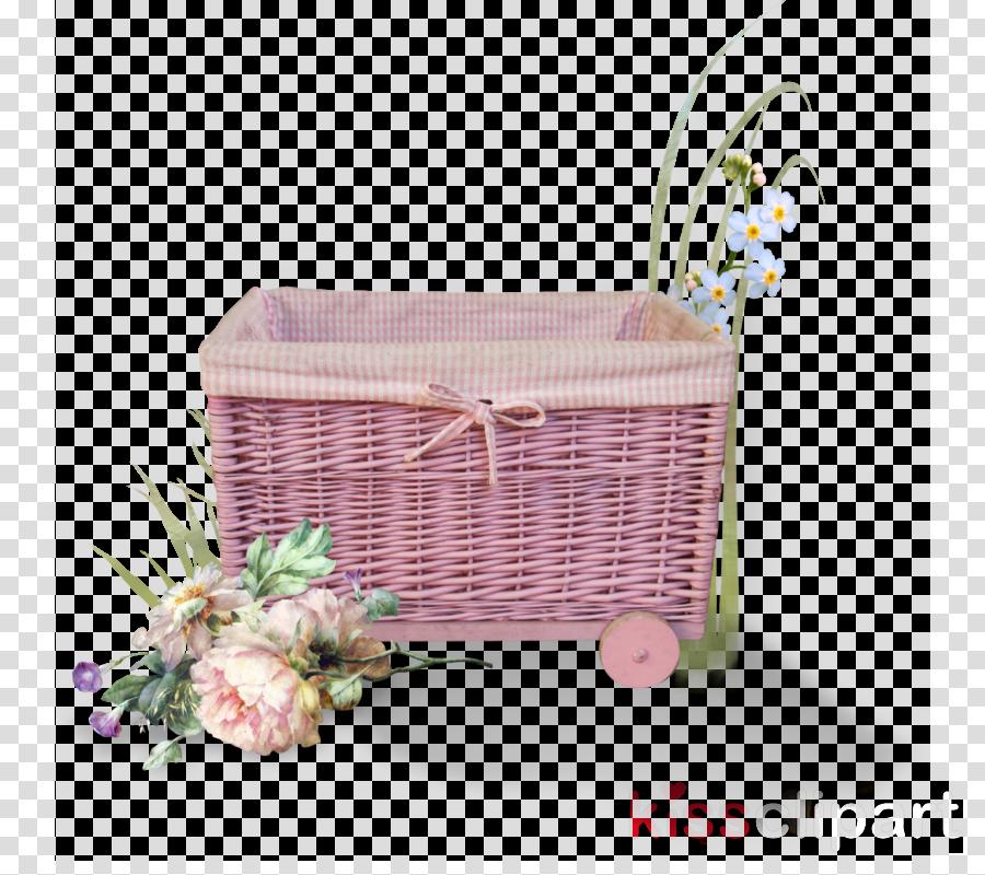 basket storage basket wicker hamper pink