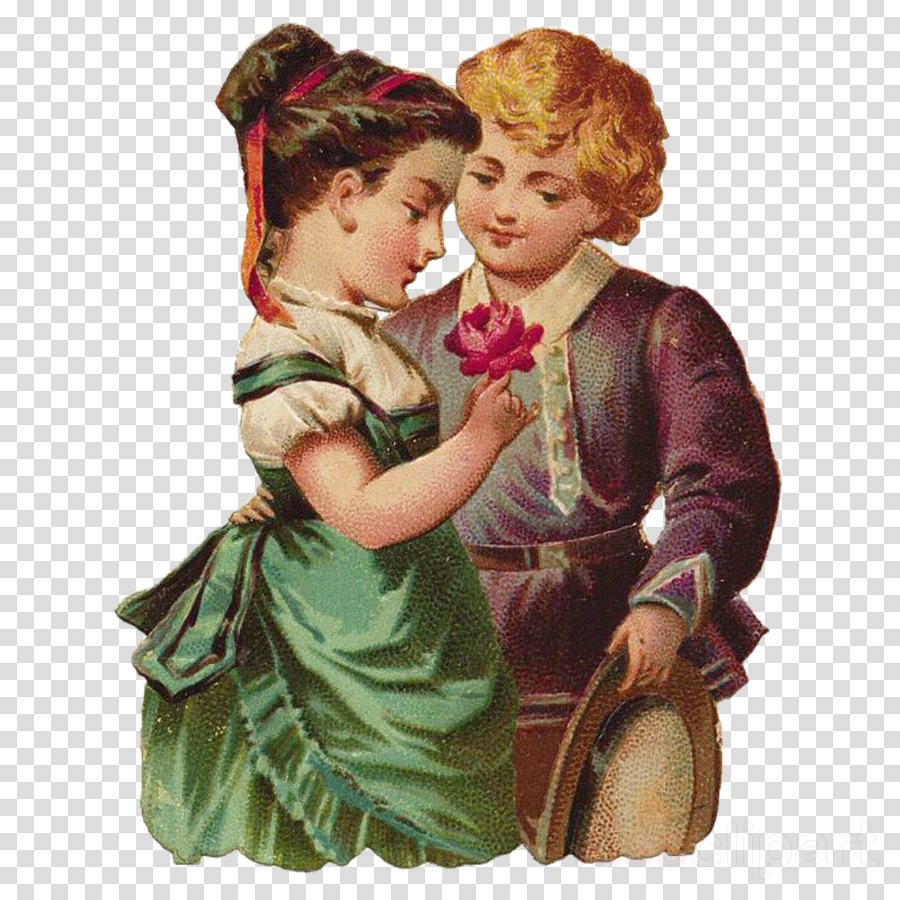interaction child hug mother vintage clothing