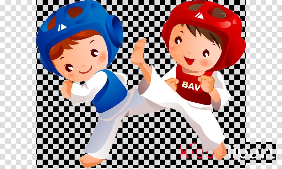 cartoon taekwondo karate animated cartoon clip art