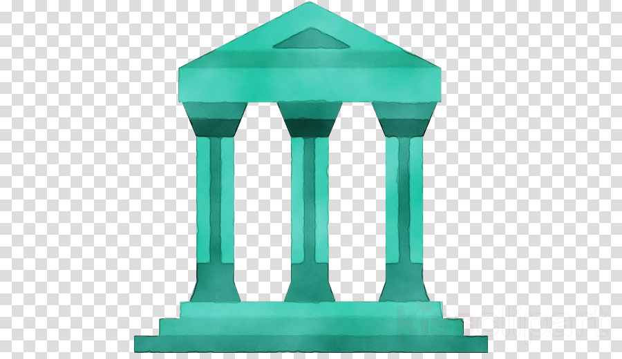 green turquoise column teal architecture