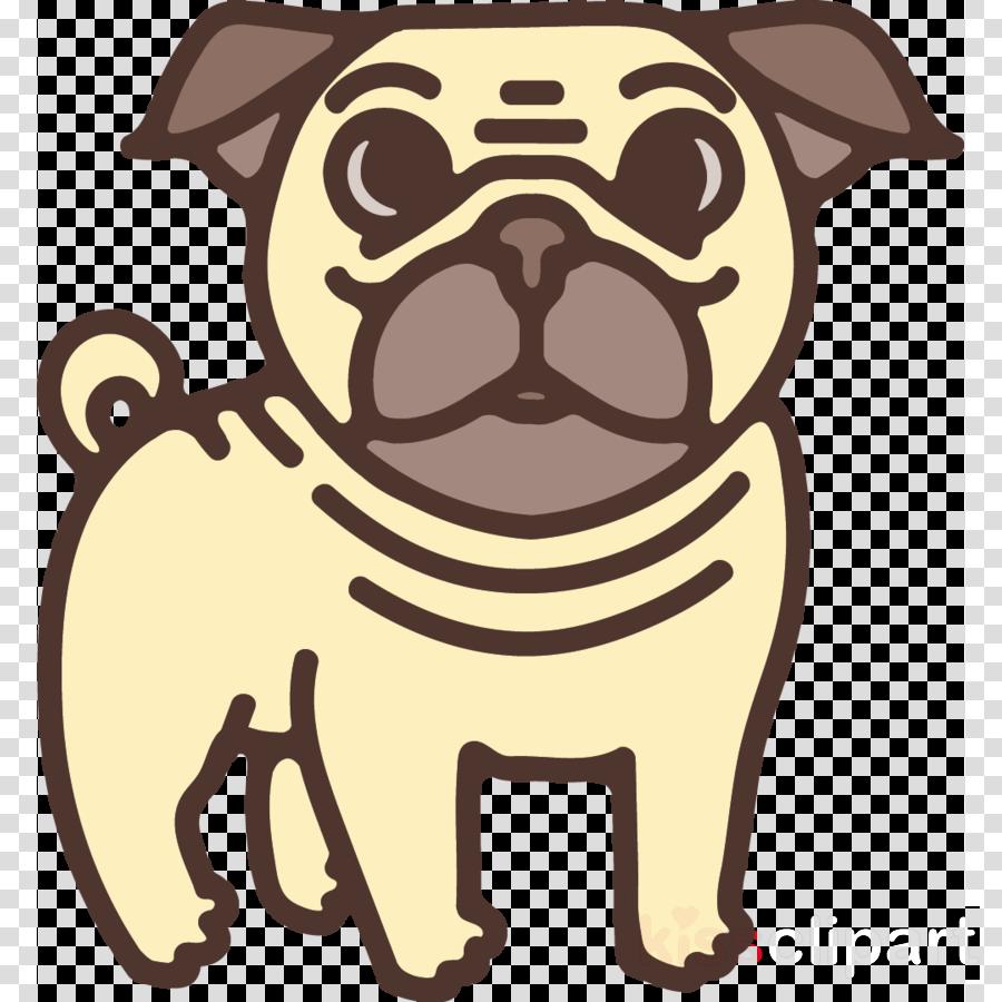 pug dog cartoon clip art snout