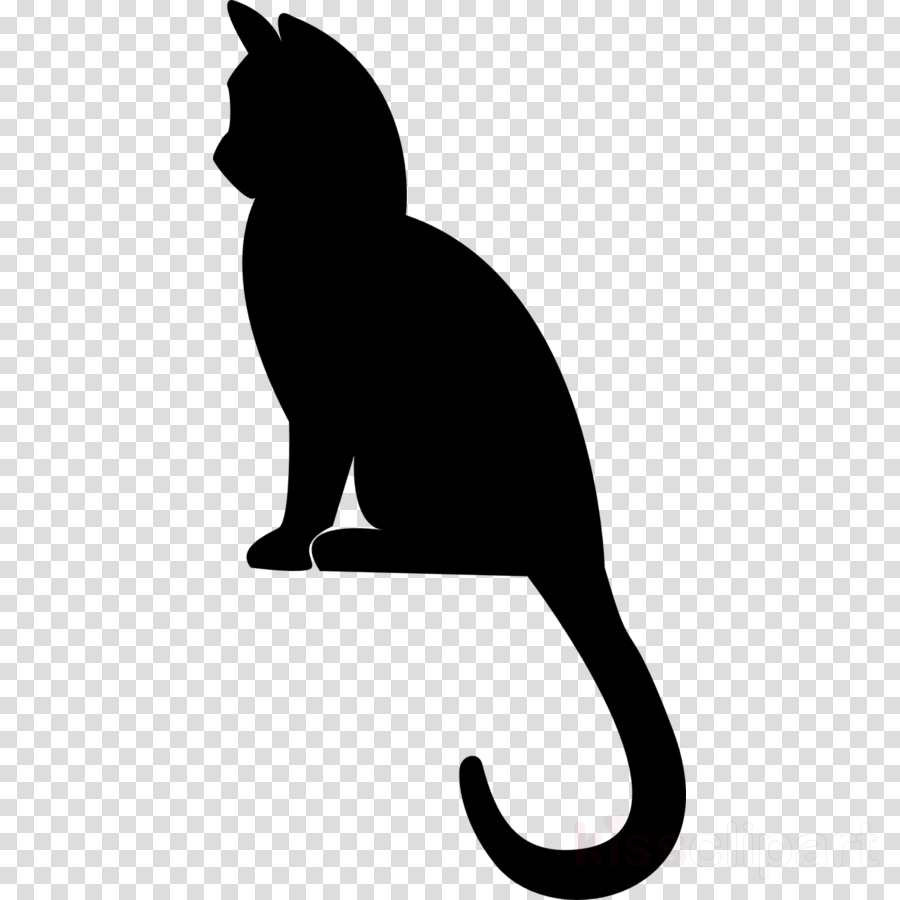 clip art tail cat black-and-white black cat