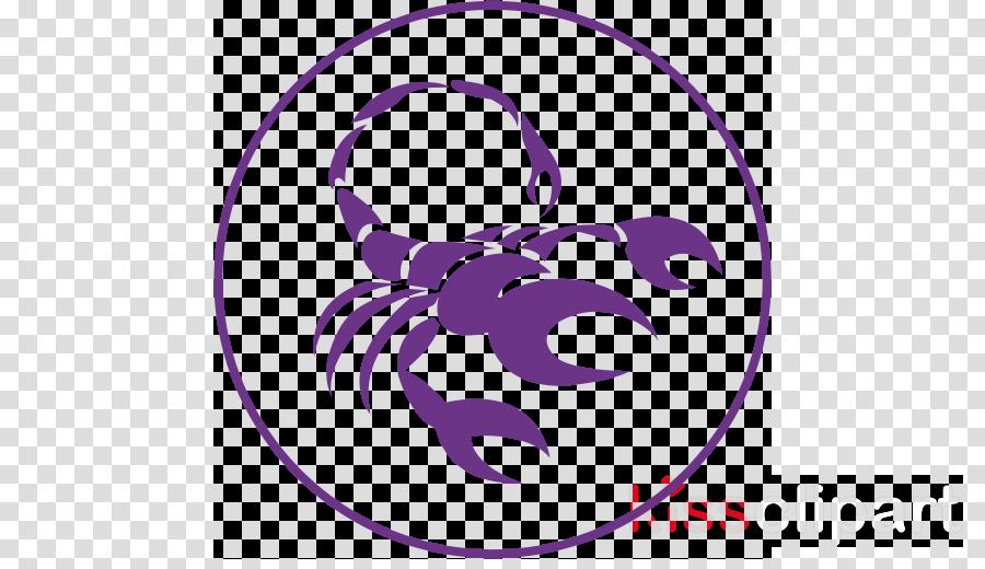 purple violet scorpion clip art circle