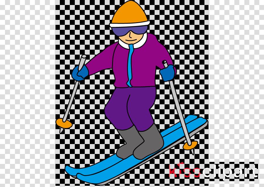 skier ski pole recreation ski equipment clip art