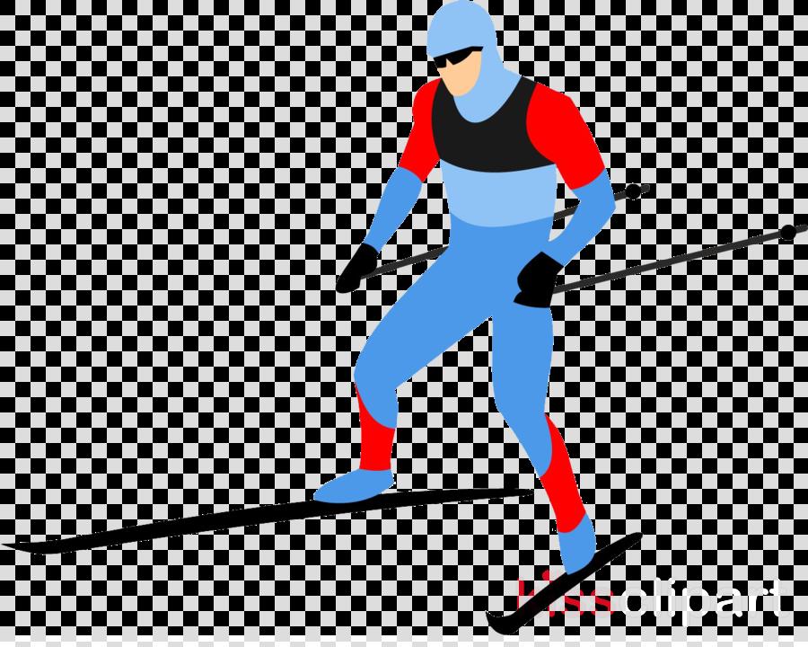 skier skiing cross-country skiing nordic combined ski pole