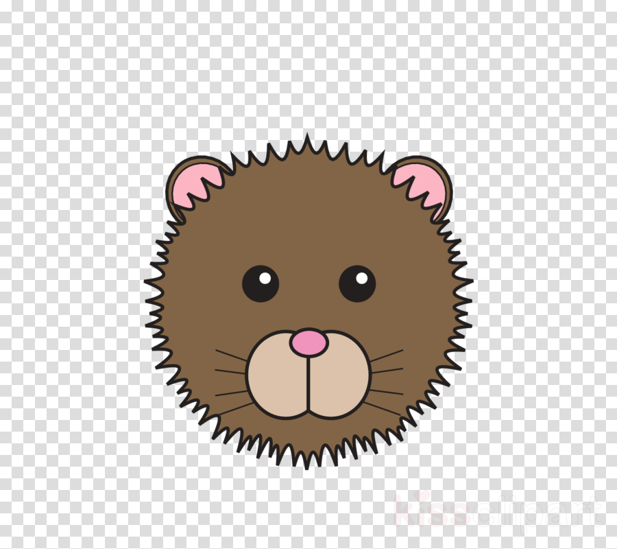 head cartoon nose brown hedgehog