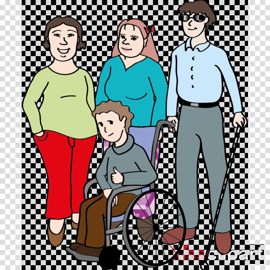 people cartoon clip art wheelchair fun