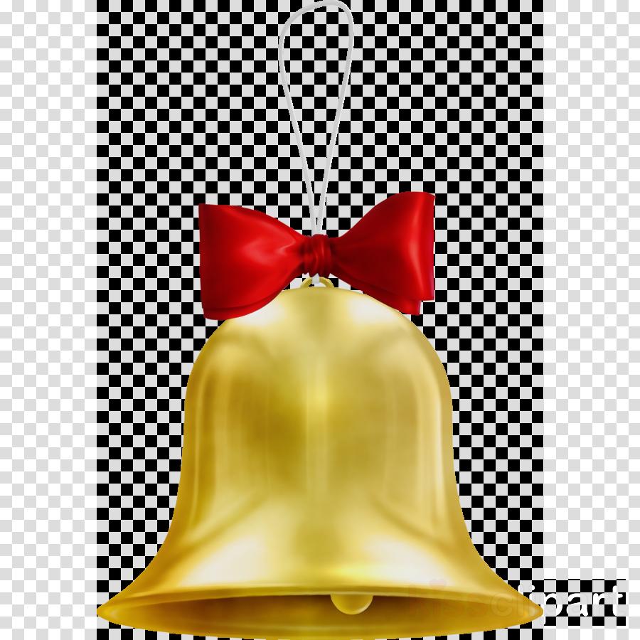 bell yellow red satin handbell
