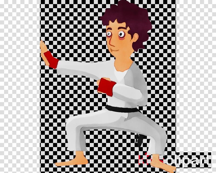 karate cartoon taekwondo kick martial arts