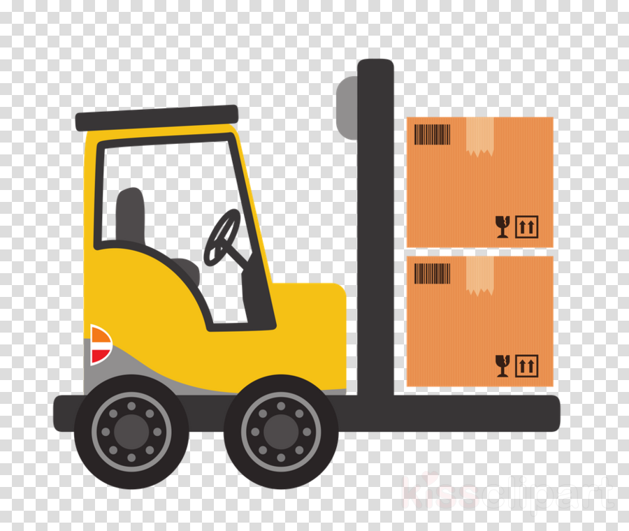 forklift truck motor vehicle transport mode of transport yellow
