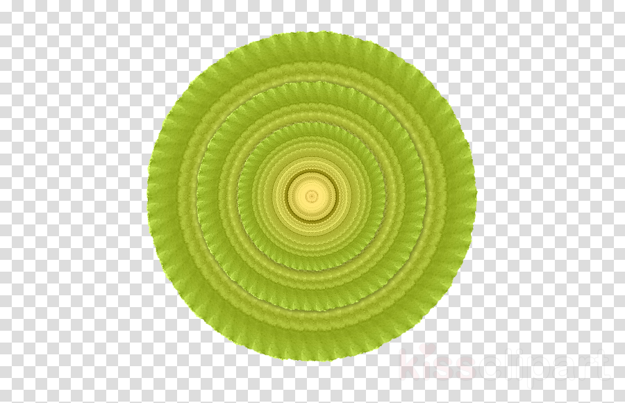 green dishware plate yellow circle