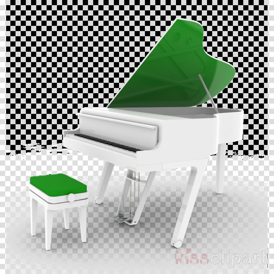 piano green furniture keyboard table
