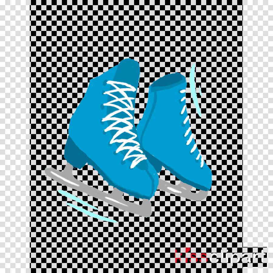 footwear shoe white aqua figure skate