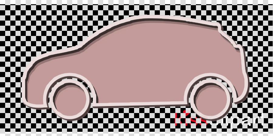 Car black side silhouette icon Over Wheels icon Car icon