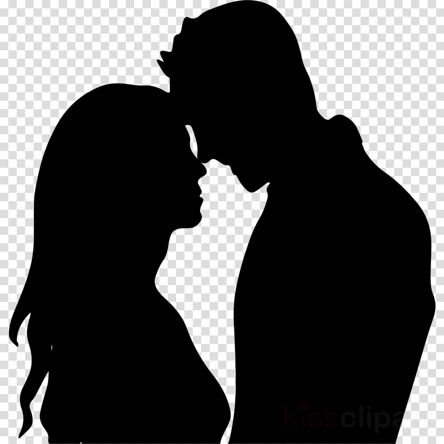 silhouette romance love interaction kiss
