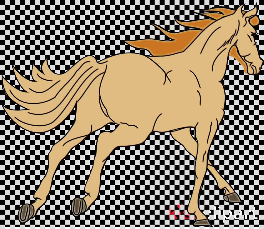 horse animal figure line art sorrel mane