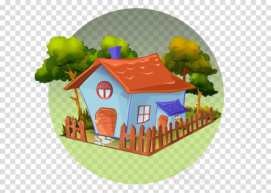 cartoon house cottage hut log cabin
