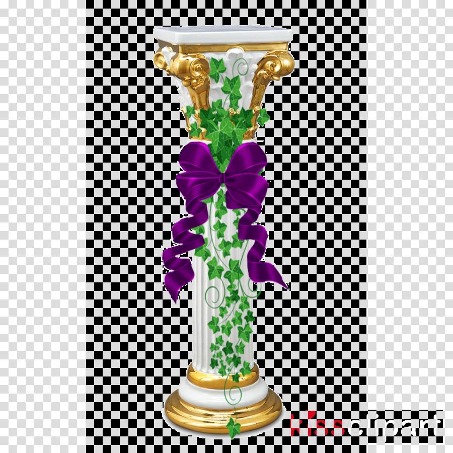 vase pedestal flowerpot column glass