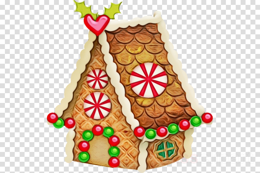 Christmas Decorating Clip Art.Christmas Decoration Clipart Gingerbread House