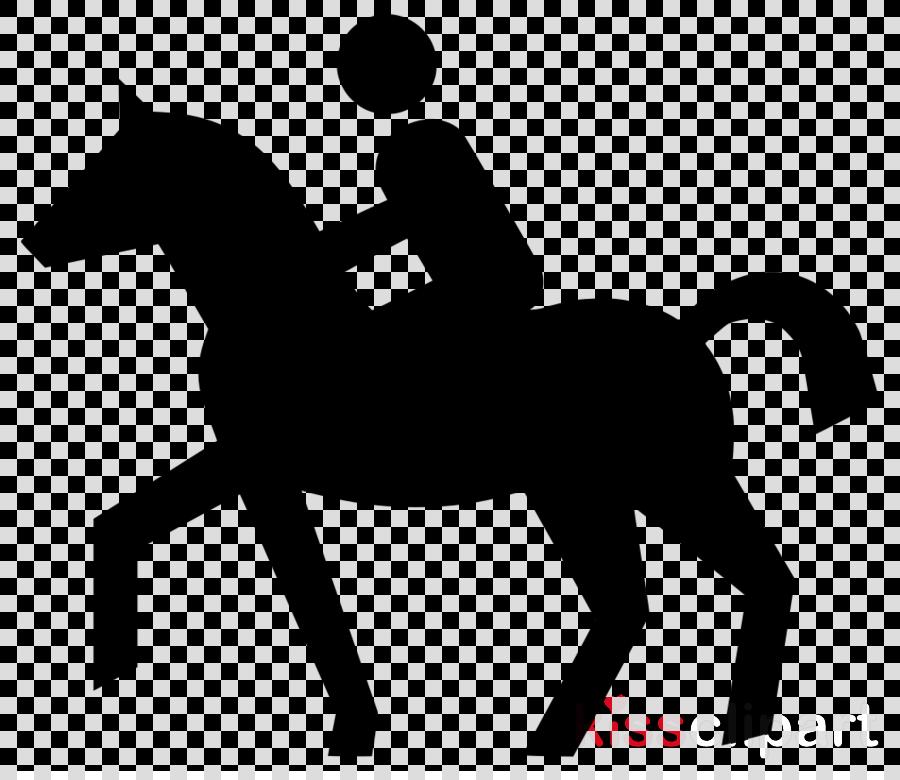 horse font silhouette line art mane