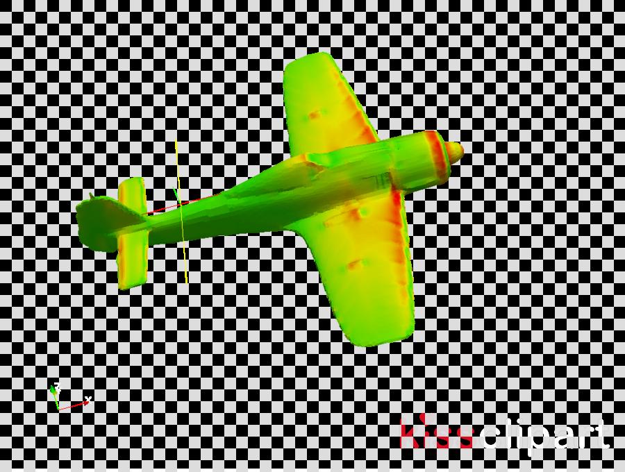 green airplane yellow vehicle aircraft
