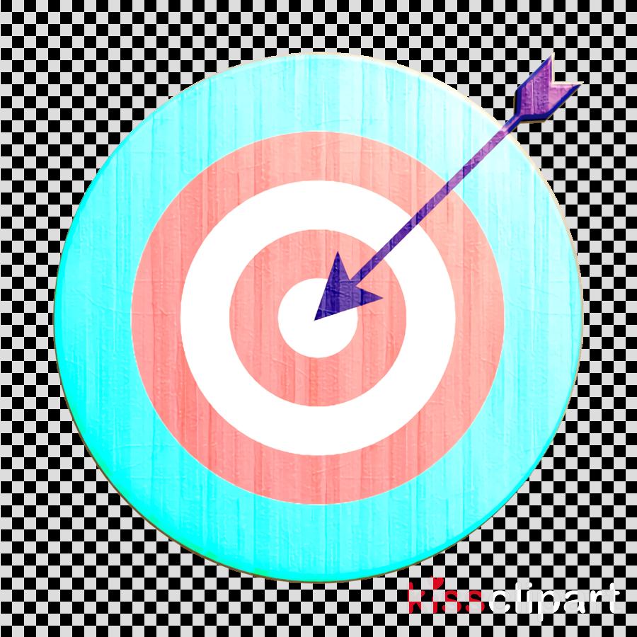 aim icon arrow icon bullseye icon
