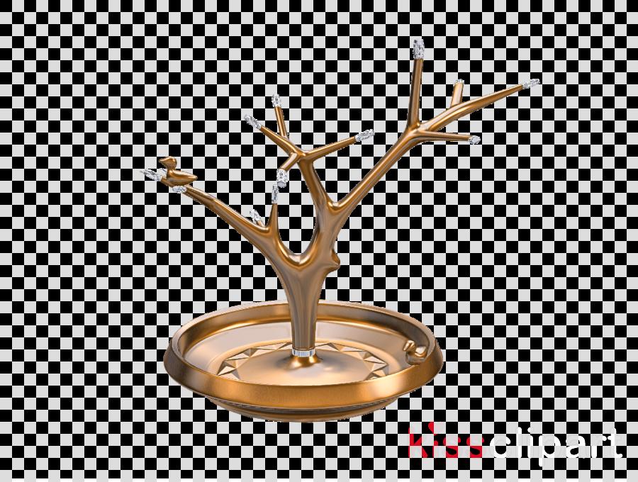 branch brass metal tree table