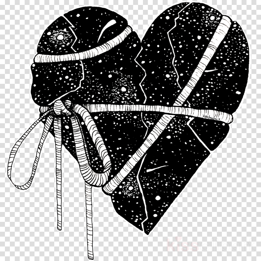 black-and-white heart