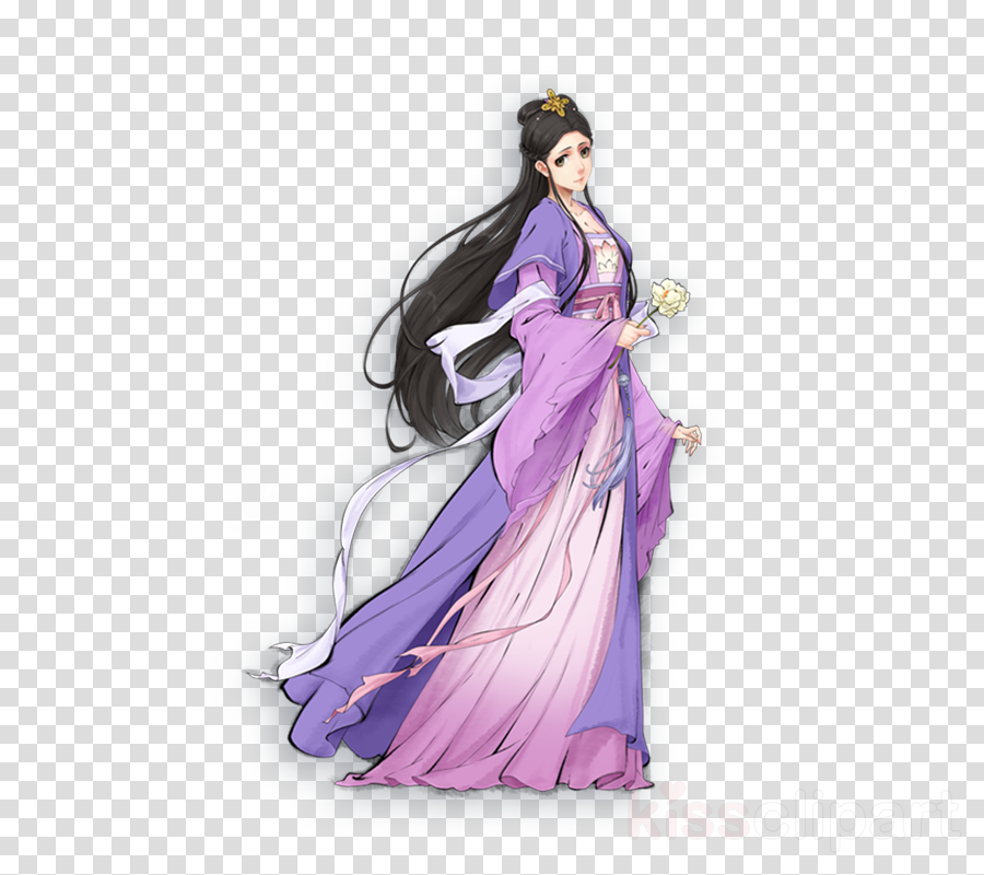 purple violet costume design drawing gown