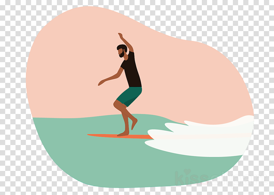 surfing physical fitness balance knee animation