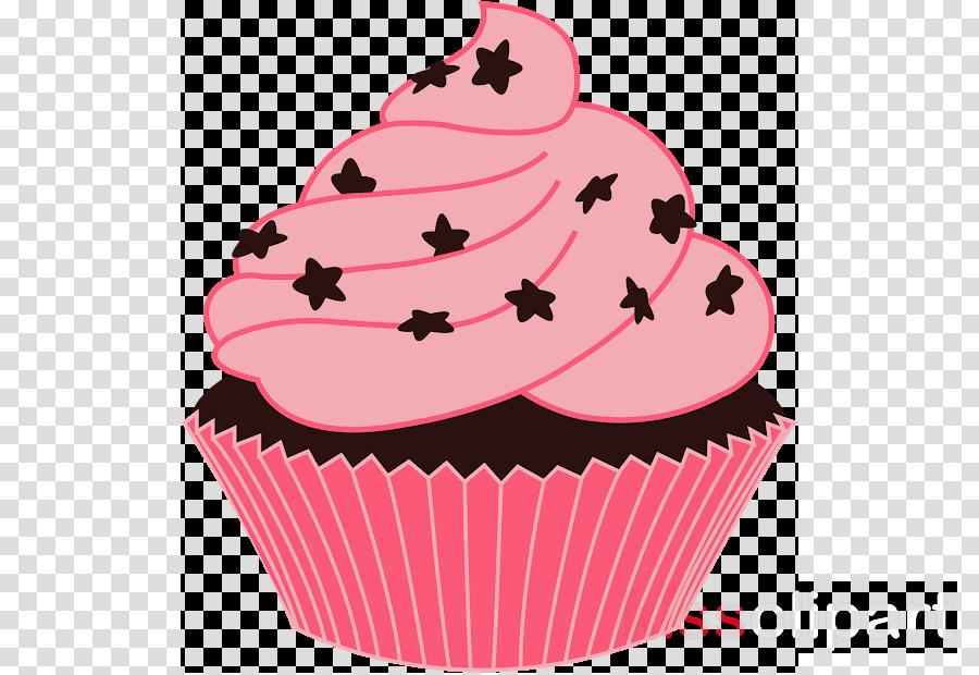 cupcake baking cup pink icing muffin
