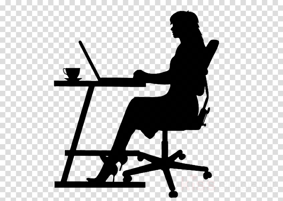 sitting silhouette line furniture office chair