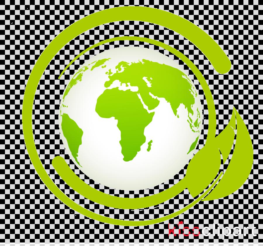 green logo circle world globe