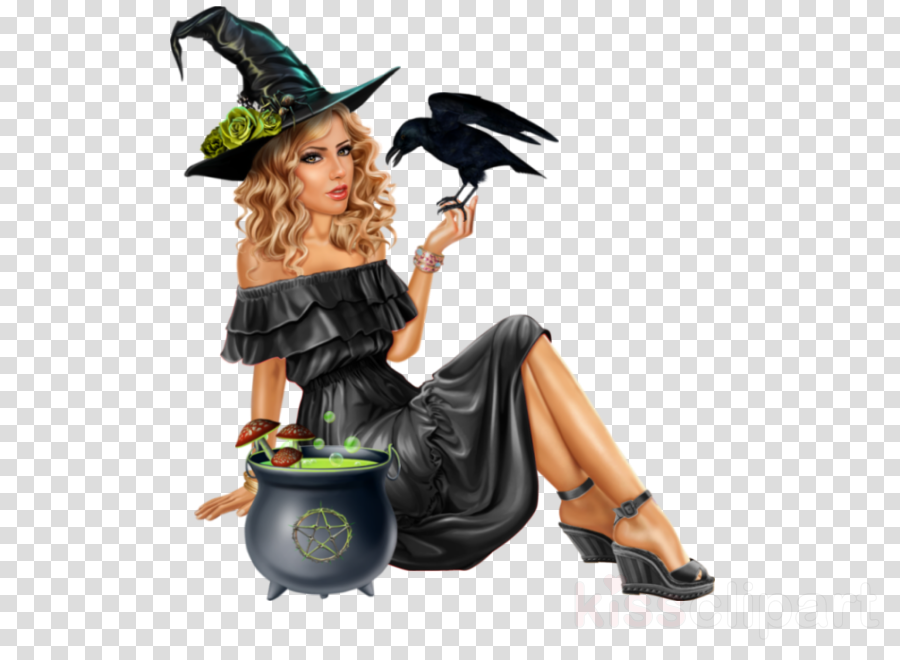 witch hat cauldron crow costume costume accessory