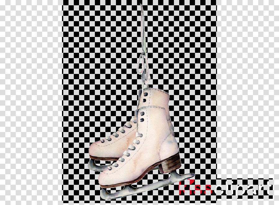 footwear figure skate white shoe ice skate