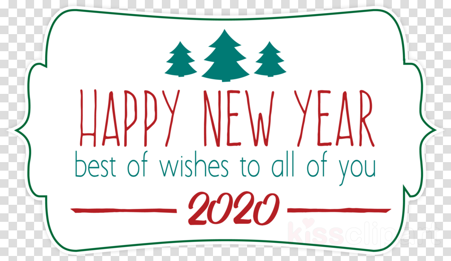 Christmas 2020 Clip Art 2020 happy new year 2020 happy new year clipart   Text, Line